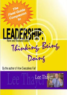 Leadership - Thinking, Being, Doing - book art